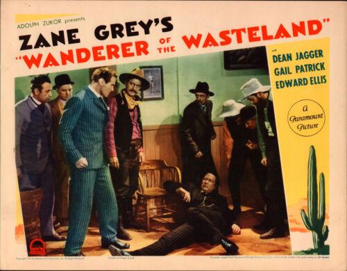 Wanderer of the Wasteland Original   Lobby Card 1935  Zane Grey  Dean Jagger