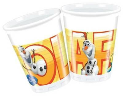 Disney Frozen Olaf 8 Taza Recipiente Bebida Vasos de Plástico Einwegbecher