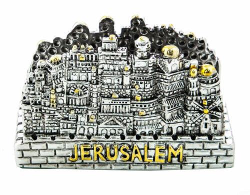 Silver & Gold Plated Jerusalem Business Card Holder - Judaica Jewish Israeli Art