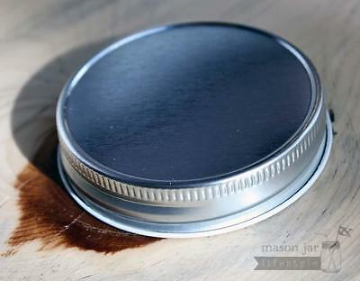 12 Pack! Shiny Metal One Piece Storage Lids for Regular Mouth Mason, Ball Jars.