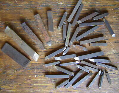 Lot 35 Lathe Cutting Bits Steel Carbide Tool Stock Machinist Mill Rex Southbend