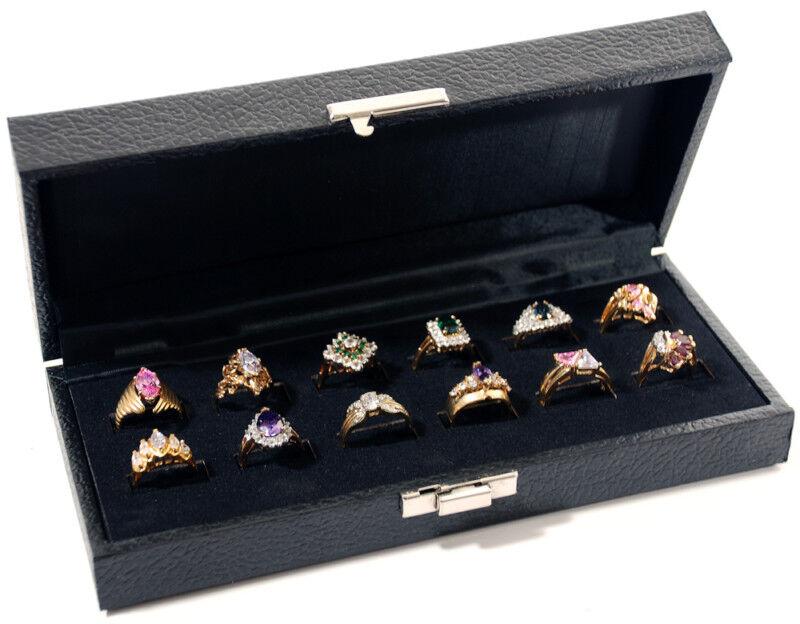 Black Ring Display Cases
