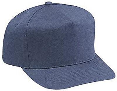 Cotton Twill Five Panel Pro Style Caps, Navy - Pro Style Cotton Twill Cap