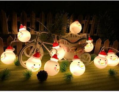 Christmas LED Decoration Snowman String Starry Lights Tree Windows Decor Bulbs ()