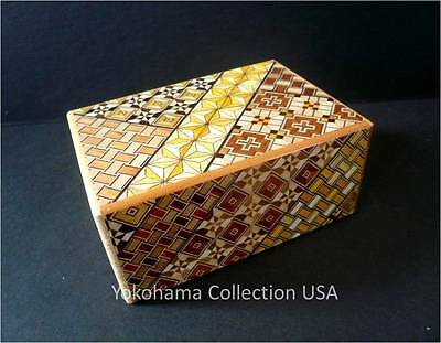 SAMURAI  Wooden Yosegi Secret Trick Puzzle Magic Medium Box 7 Steps/HK-122