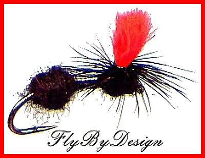 Black Parachute Ant Fly Fishing Flies - Choice Of Size & Quantity