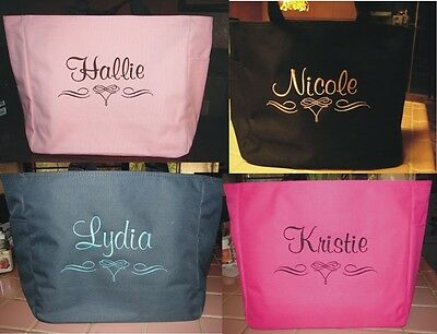 Inexpensive Bridal Shower Gifts (4 WEDDING TOTE Bag personalized  BRIDESMAID SCROLL BRIDAL SHOWER CHEAP )