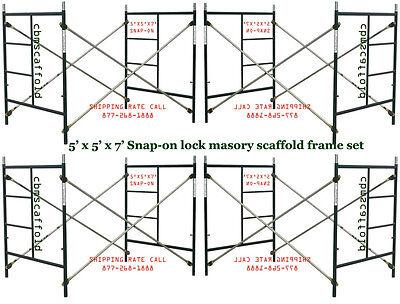4 Set of New Snap-On 5' X 5' X 7' Masonry Scaffolding with X Brace CBMscaffold