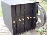 Old Industrial Cinema 6 Reel Cabinet - Excellent Salvage Room Decor