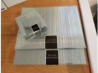 Brand New Sliver Glitter Placemats and Coasters