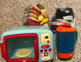 For sale toys kettle microwave oven and play food
