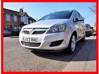 PCO 7 Seater --- 2013 Vauxhall Zafira 1.6 --- PCO till Feb 2018 --- New MOT --- 7 Seater PCO Ready