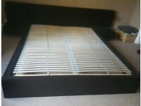 Ikea Malm Black/Brown King Size Double Bed for Sale