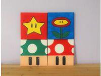 Super Mario set of paintings
