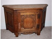 Wood Bros Old Charm Furniture - solid Oak wood TV or storage cupboard cabinet,good condition