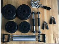 Dumbbells, skipping rope, power springs, wrist strengthening springs