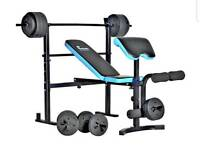 Folding Bench Press (as shown in pic) with 50kg weights