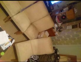 Cream suede chairs x4