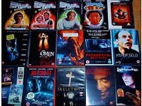 15 DVD'S;HORROR & SCI-FI; £10 FOR ALL