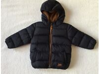 Next Baby Boy Navy Hooded Jacket 12 - 18 Months