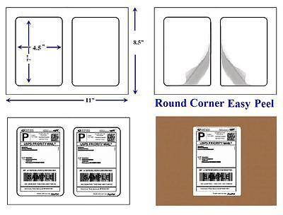 "Round Corner 1000 Self Adhesive 7"" x 4.5"" Shipping Labels 2 Per Sheet LUCKYLEO"