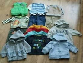 Baby boys clothing bundle age 3-6 mths