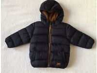 BNWT Next Baby Boy Navy Hooded Jacket 12 - 18 Months