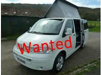WANTED: VOLKSWAGON VW T5 Converted Camper