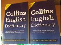 2 x Collins English Dictionary (Paperback) Brand New