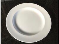 4 Large White Porcelain Dinner Plates