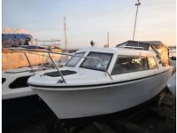 Viking 20 Cabin Cruiser with Yamaha 9.9hp Electric Start, High Thrust, four stroke Outboard