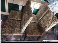 4x Wicker chair