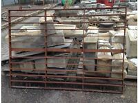 Cast iron large farm garden drive gate