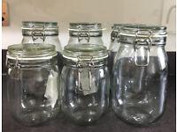 IKEA Clear Glass Jar with Lids