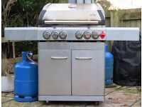 Swiss Grill Stainless Steel Barbeque with Side Hob and Electric Rotisserie