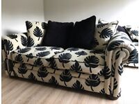Stunning 4 and 3 seat sofa set and cushions