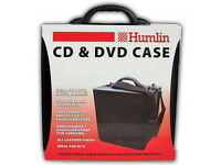 BLACK PVC/Leather 400 Disc DVD/CD DJ Carry Case - Humlin