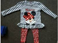 Minnie mouse top & leggings outfit