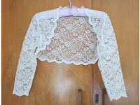 Ivory Lace Bolero/Bridal/Wedding