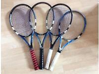 4 Babolat Drive-Z Lite Tennis Rackets