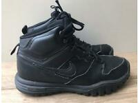 Nike Dual Fusion Hills Mid Leather Black Boys Men's Trainers UK 6