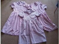 3 Red Gingham School Summer Dresses