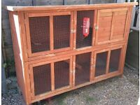 Large double rabbit hutch - Pets at Home Bluebell Hideaway