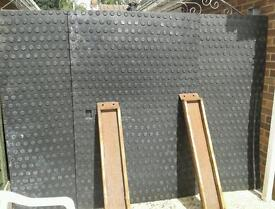 3 X.. 6ft X 4ft RUBBER MATS NON SLIP ONE SIDE AND WATER DRAINAGE THE OTHER