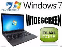 WOW DEAL WIDESCREEN INTEL DUALCORE 4GB 160GB HDD DVD Windows 7 Laptop