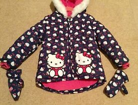 Girls HELLO KITTY Jacket. Age 4-5 years. Worn once. Immaculate.