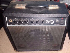 Fender Squire 15 Practice Amp from the 1980's, frontman sidekick