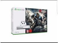 Xbox one S 1tb gears of war 4 bundle brand new in box white