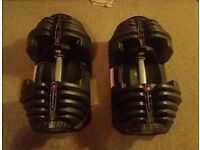 Bowflex 4-41kg Dumbells and bench