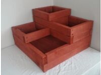 Large Tiered wooden planter, Raised bed, Vegetable patch, Corner planter, Layered vertical planter.